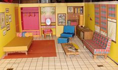 BARBIES DREAMDOLL HOUSE - 1st  ONE - 1991 - VERY NICE!!  #0816 w/ ALL FURNITURE
