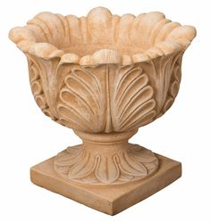 "Handcrafted cast stone vase ""Giglio"" Made in Italy Design Rustique, Fiberglass Planters, Cast Stone, Terracotta Pots, Clay Pots, Terra Cotta, Stone Art, Cement, Art Work"