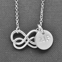 infinity necklace Interlocking circle necklace by JubileJewel, $65.00