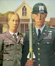 grant wood american gothic - Google Search