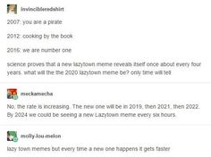 Math is amazing thats it weve scientifically proven when lazy town memes will appear Dankest Memes, Funny Memes, Hilarious, Jokes, Fandom Memes, Tumblr Stuff, Funny Tumblr Posts, Lazy Town Memes, Best Of Tumblr