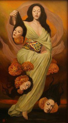 "art-and-fury: "" The Soul of Language (Kotodama) -  Toru Kamei """
