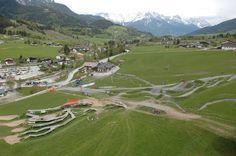 #Bike park Leogang Lodges, Golf Courses, Park, Cabins, Parks, Chalets