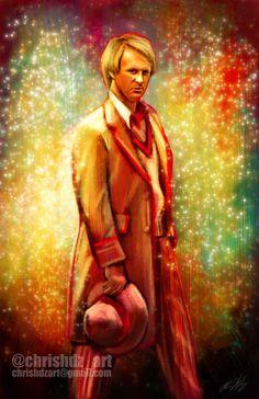 The Doctor- Peter Davison (5th Doctor) by ChrisHdzArt.deviantart.com on @DeviantArt