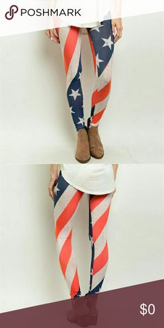 e364b977184 Sale  Buy One Get One Off Everything American Flag Leggings. These leggings  feature a full length hem.