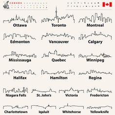 Free Vector Graphics, Free Vector Art, Canada Tattoo, Skyline Tattoo, City Tattoo, City Icon, City Vector, Abstract City, City Illustration