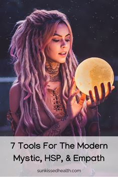 If you're a modern mystic, HSP, or empath: check out these 7 tools to help you stay balanced and high-vibe throughout your day. New Moon Rituals, Full Moon Ritual, Sweet Dreams Images, Cura Interior, Daily Journal Prompts, Meditation, Highly Sensitive Person, Sensitive People, Manifestation Journal