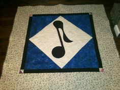 Music note quilt designed and created by me