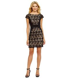 Jessica Simpson Cap-Sleeve Lace Dress | Dillard's Mobile