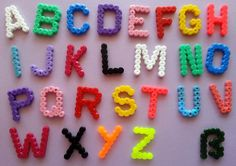 Colorful alphabet set made of Hama iron-on beads by Heartphilia – Famous Last . - Colorful alphabet set made of Hama iron-on beads by Heartphilia – Famous Last Words -