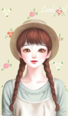 ideas fashion wallpaper iphone backgrounds we heart it Cute Cartoon Pictures, Cute Cartoon Girl, Anime Korea, Lovely Girl Image, Cute Girl Wallpaper, Beautiful Drawings, Beautiful Beautiful, Kawaii Girl, Anime Art Girl