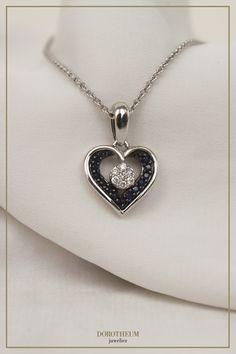 kette, necklace, saphire, whitegold, Weißgold, jewellery, jewelry, schmuck, Accessoires, love, present, for her, geschenk, für sie