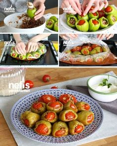 Video presentation How to make Stuffed Pepper in Oven Bag? (Video) people Sarma ve dolma tarifi Potato Recipes, Chicken Recipes, Pepper Recipes, Italian Chicken Dishes, Perfect Baked Potato, Best Macaroni And Cheese, Braised Brisket, Best Peanut Butter Cookies, Skillet Chocolate Chip Cookie