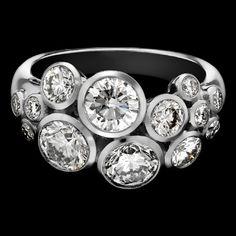 Diamond Bubble Ring  http://www.pragnell.co.uk/jewellery/rings/diamond-rings/diamond-bubble-ring/