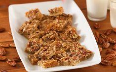 Maple Pecan Shortbread Squares Recipe | Allrecipes Shortbread Recipes, Cookie Recipes, Dessert Recipes, Dessert Bars, Pecan Desserts, Cookie Ideas, Party Recipes, Baking Recipes, Pecan Pie Cookies