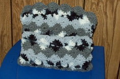 Crocheted Storage Bag Or Purse Grey Black and by amydscrochet, $5.50