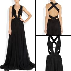 Black. Dress. Cut outs. Sexy. Long dress.