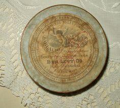 Antique Edwardian Cardboard Advertising Face Powder Box Ben Levy Co - The Gatherings Antique Vintage