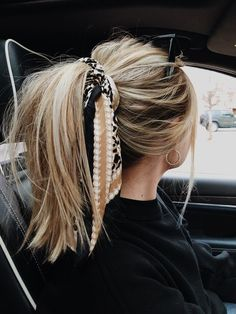 My hair goals Messy Hairstyles, Pretty Hairstyles, Hairstyle Ideas, Bandana Hairstyles For Long Hair, Summer Hairstyles, Super Easy Hairstyles, Hairstyles 2018, Hairstyles With Headbands, Braid Hairstyles
