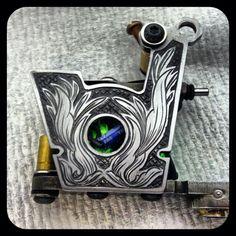 Engraved tattoo machine frame
