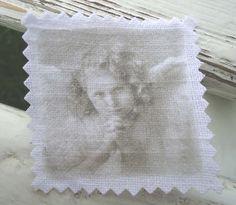 Engel Patch Aufnäher shabby vintage Stoffbild von Nostalgie Gretel häkelt und schenkt auf DaWanda.com