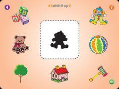 Matching de figura e sombra! Também pode recortar as figuras e fazer em papel. O nome do App para iPad é Match ir up!