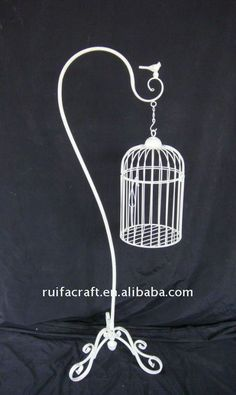 garden bird cage to be decorated with flowers