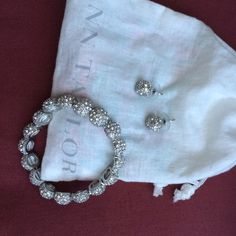 Ann Taylor bracelet and earrings Sparkly and perfect for that special occasion, still sold in stores for $29.50 each, worn once! Ann Taylor Jewelry