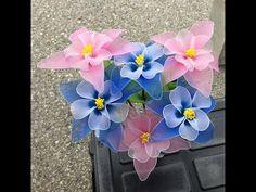 How to make nylon stocking flowers - Phalaenopsis Orchids - YouTube