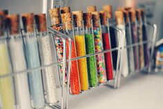 test tubes and rack to hold sprinkles/spices