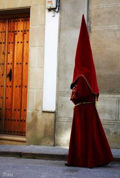 Spanish 1000s of years tradition for Easter...Procesión de la Ilustre Cófradía de la Humildad de Nuestro Señor Jesucristo y Nuestra Señora de los Dolores del Rosario. Jueves Santo en Baeza (Jaén).