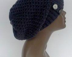 Gray Slouchy Hat Handmade Crochet Hat Women Teen Beanie Hat Ready to Shipped Gift Item - Edit Listing - Etsy