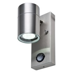 LED Wandleuchte ROM, m. Bewegungsmelder, Außenleuchte, 1-Flammig, Edelstahl, GU10-230V, (Form:F2)