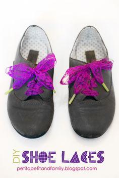 DIY Funky Shoe Laces by petit à petit and family