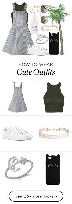 """Summr Outfit"" by elinajuslin on Polyvore featuring Prada, Topshop, adidas and Humble Chic"