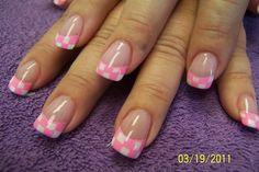pink checkerboard by aliciarock - Nail Art Gallery nailartgallery.nailsmag.com by Nails Magazine www.nailsmag.com #nailart