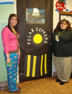 Polar Express Door -I really want to decorate my door like this! Ideas for a Polar Express day before winter break! Preschool Christmas, Christmas Activities, Classroom Activities, Classroom Ideas, Polar Express Movie, Polar Express Theme, Polar Express Christmas Party, Polar Express Activities, Christmas Door Decorations