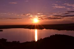 Colorado Lake bed sunset.