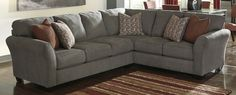 Buy Ashley Furniture 8680049-8680066 Doralin Steel RAF Sofa with ...
