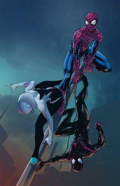 Spider Collab by Paris Alleyne | Spider-Gwen, Amazing Spider-Man, and Ultimate Spider-Man
