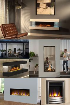 Create a Statement in your Home with a Modern Fireplace! Flavel Gas Fires, Contemporary Gas Fires, Flame Picture, Solid Fuel Stove, White Pebbles, Wall Insulation, Gas And Electric, Ventilation System, Modern Fireplace