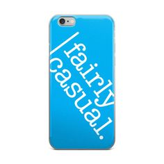 iPhone Case (Cyan and White)