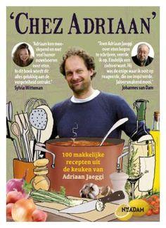 100 makkelijke recepten uit de keuken van Adriaan Jaeggi.  Culinette:  De recepten zijn leuk, niet al te moeilijk, gek, bijzonder, gewoon en van alles wat je maar bedenken kunt. Maar de wijze waarop hij schrijft is onovertroffen. Dit boek zet je niet alleen aan het koken maar laat je ook onbedaarlijk lachen. Om helemaal vrolijk van te worden. Hilarische scherpe humor en een heldere blik op de wereld.