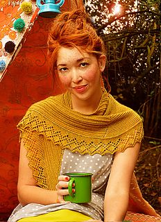 Mountain Moss Shawl by Beth Kling (fingering weight)
