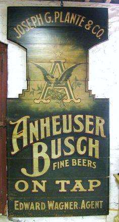 Anheuser Busch Stone Street Tavern Pre-Prohibition Beer Sign 1890 - CovalentNews.com