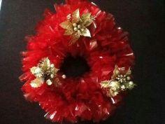 Cellophane/crepe paper wreath