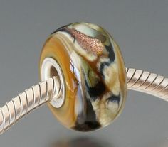 Champleve  1 Handmade Lampwork Bead  Fits Pandora Troll