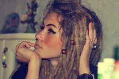 Caucasian dreads. Natural beauty.