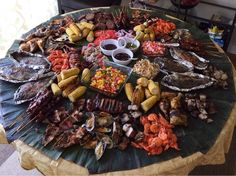 Today's my birthday! Filipino Boodle Fight style