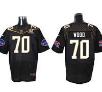 Nike Buffalo Bills #70 Eric Wood Black 2016 Pro Bowl Men's Stitched NFL Elite Jersey